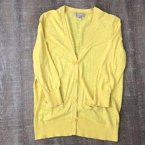 Banana Republic Yellow Cardigan Sweater M